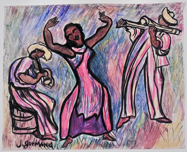 Danse cubaine ; Danseuse et musiciens d'Amérique centrale_0