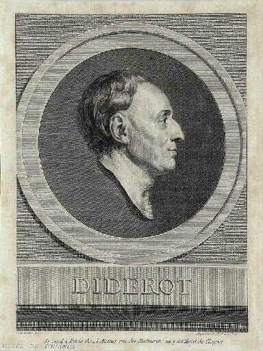 GREUZE Jean-Baptiste (d'après), SAINT-AUBIN Augustin de : Denis Diderot