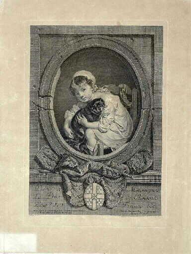 L'Epagneul chéri ; Un jeune enfant qui joue avec un chien (autre titre)