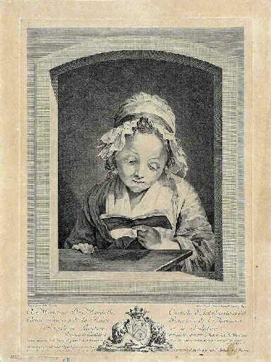 La Petite liseuse ; Jeune fille lisant la Croix de Jésus (autre titre)