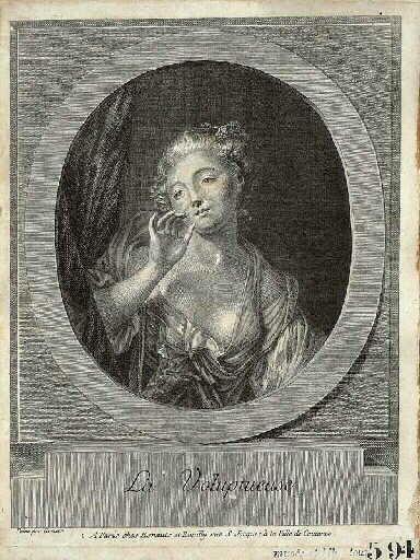 Une Jeune fille qui envoie un baiser par la fenêtre ; La voluptueuse (autre titre)