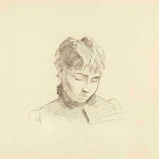 REDON Odilon : Jeune fille à la frange