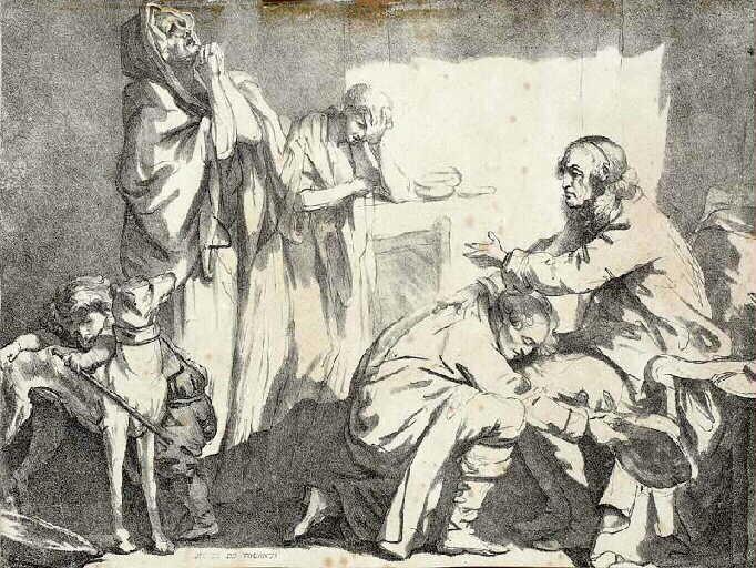 La Bénédiction paternelle ; Le départ de Bazile (autre titre)