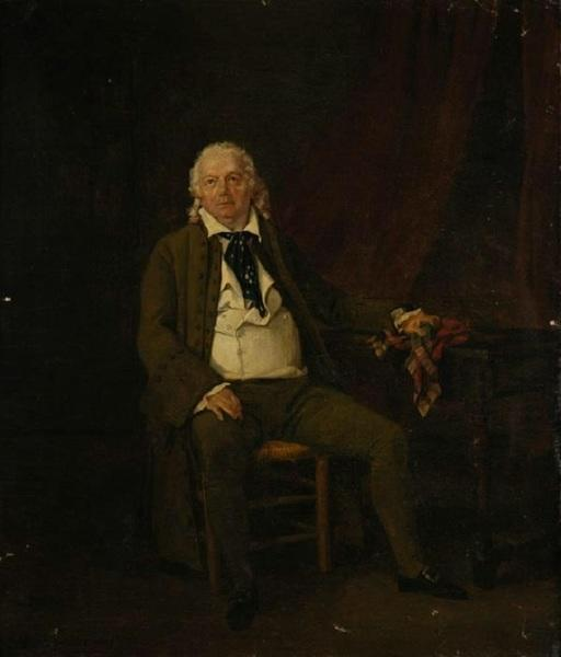 LEPRINCE Auguste Xavier : Portrait de Simon Chenard dans le rôle du Père Morin