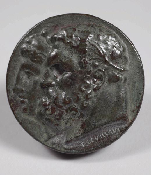 LEVILLAIN Ferdinand (sculpteur) : Deux têtes, d'après l'antique