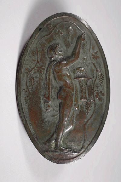 LEVILLAIN Ferdinand (sculpteur) : La cueillette du raisin
