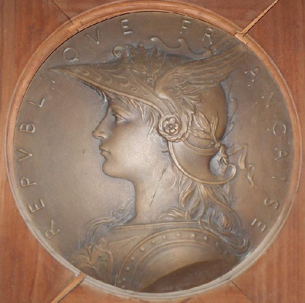 ROTY Louis Oscar (sculpteur, médailleur) : République française casquée, Marianne