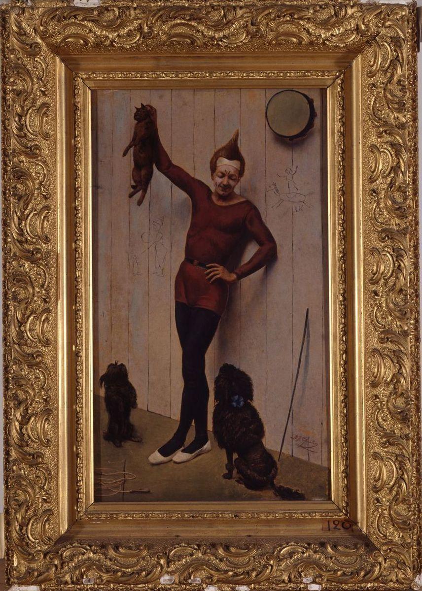 Le clown ; Après la leçon (titre ancien, Salon de 1884)_0