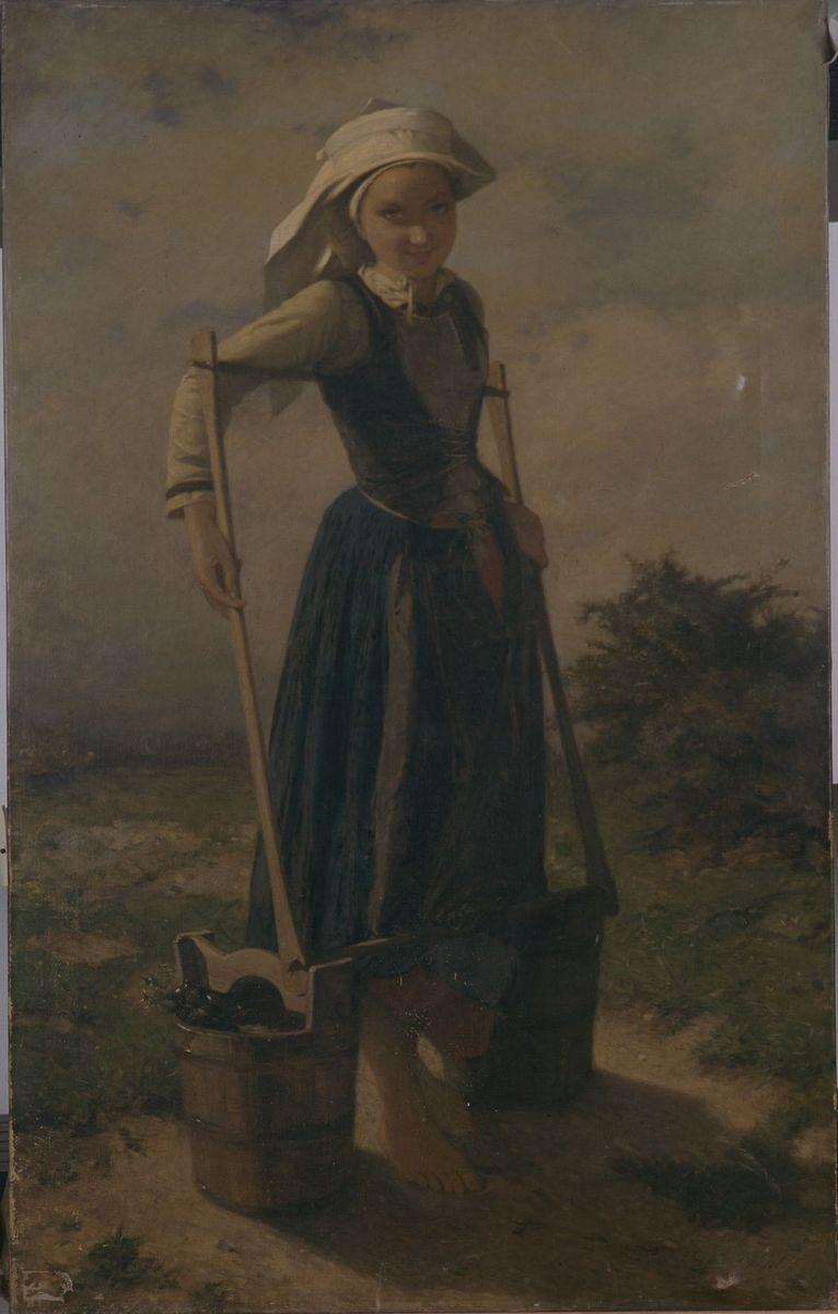Jeune paysanne bretonne_0