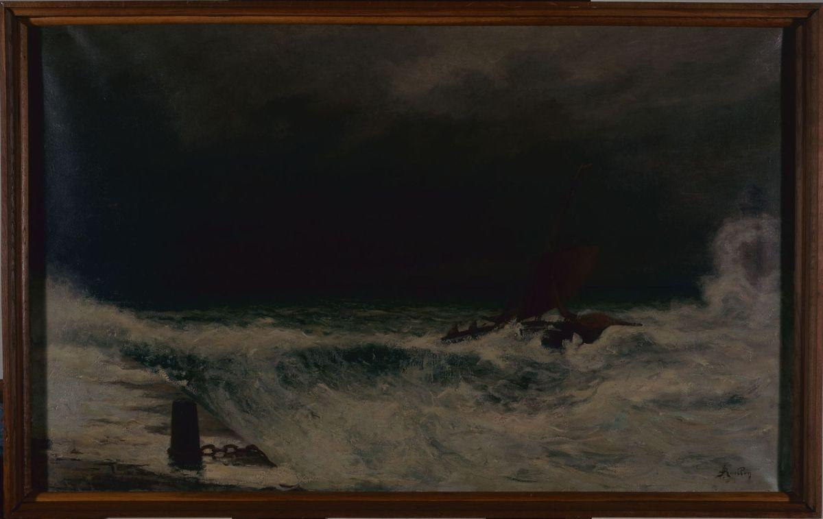 Marine, gros temps | RUELLAN Joseph Alexandre