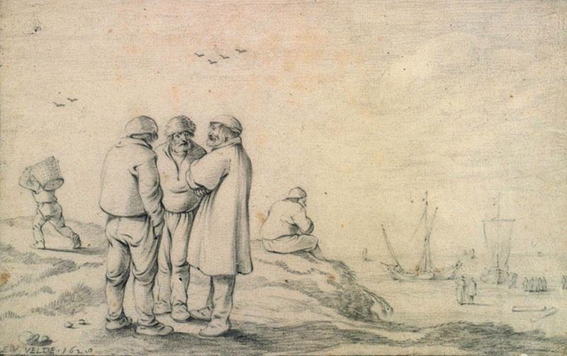 Marins sur le bord de la mer_0