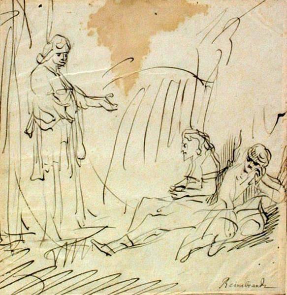 Scène de l'histoire de Joseph ; Sujet inconnu ; Christ au tombeau ; Christ et deux malades_0