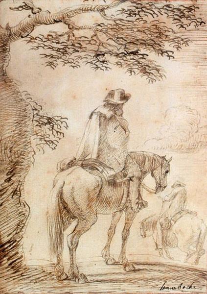 Un homme à cheval_0