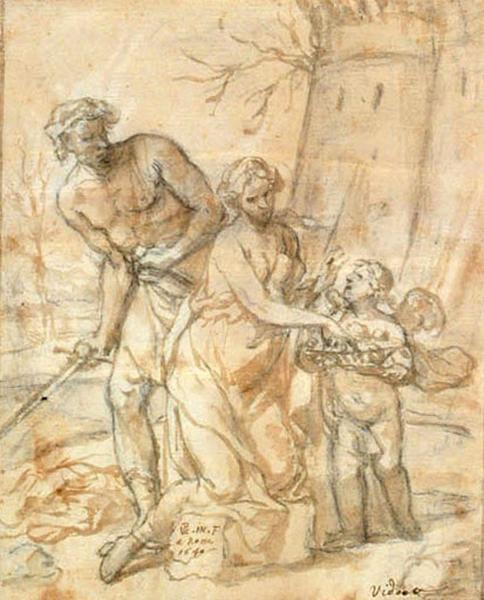 Martyre d'une sainte ; Le martyre de sainte Barbe (?)_0