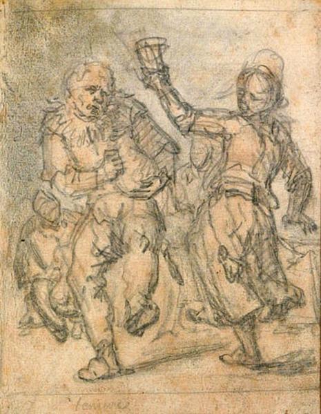 Homme et femme dansant_0