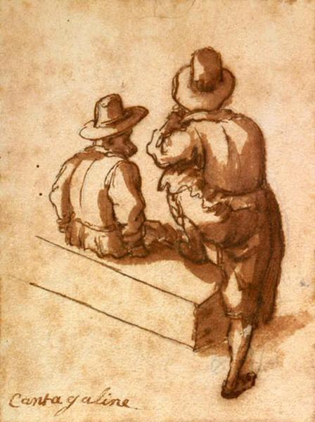 Deux hommes vus de dos_0