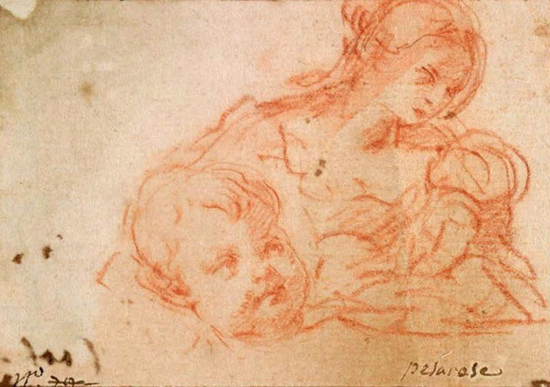 Femme et enfant, tête d'enfant_0