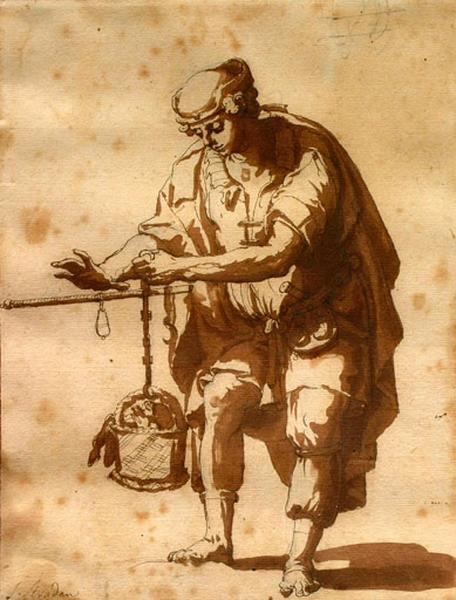 Homme pesant avec une romaine_0