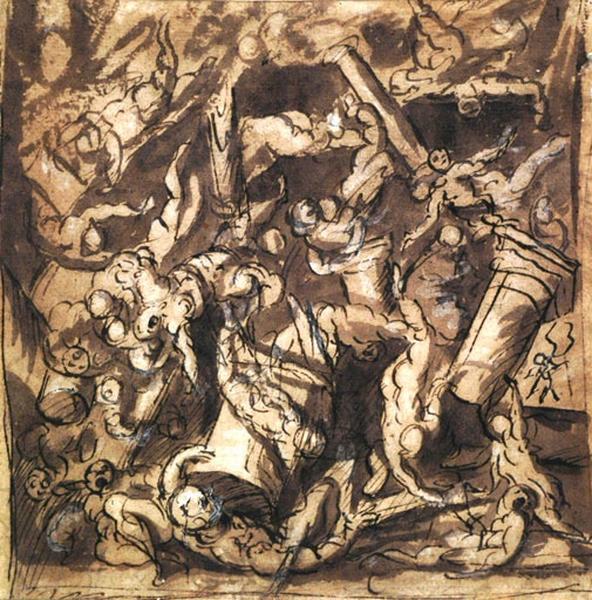 Recto : Mort de Samson ; verso : Scène avec figures_0