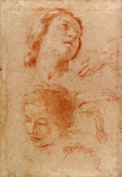 Recto : Deux têtes de femmes ; verso : Saturne_0