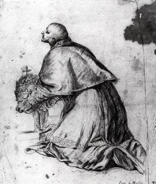 Un ecclésiastique présentant une tiare_0