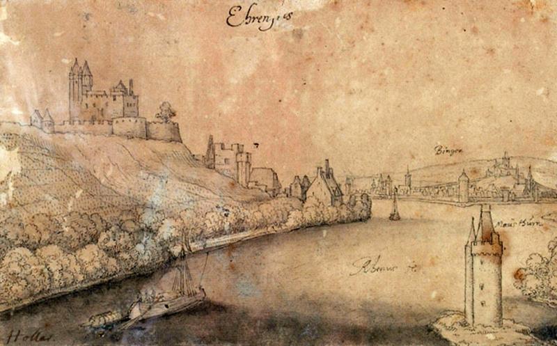 Ehrenfels et Bingen (Vue de la vallée du Rhin)_0