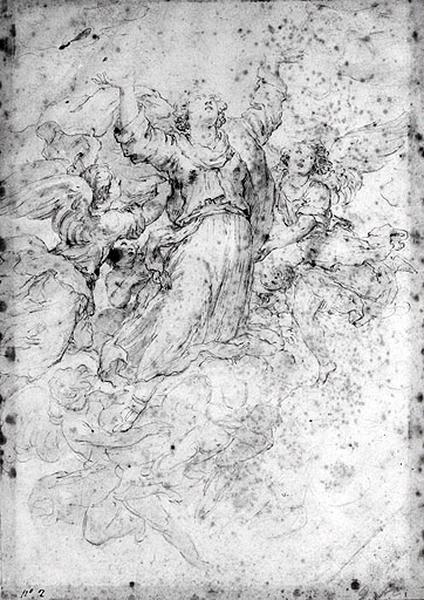 Recto : L'Assomption ; verso : Le Christ aux pieds de la Vierge_0