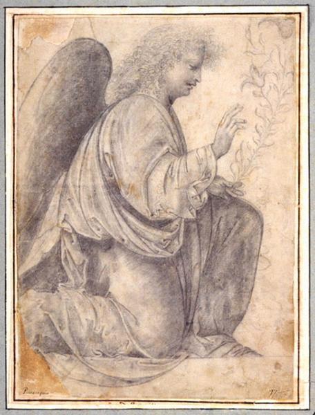 Ange de l'Annonciation (recto) ; Femme en buste vue de profil (verso)_0