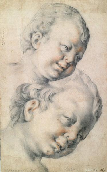 Deux têtes d'enfants_0