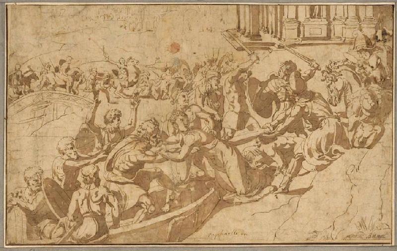 Enlèvement d'Hélène (recto) ; Femme enlevée au milieu d'un combat (verso)_0
