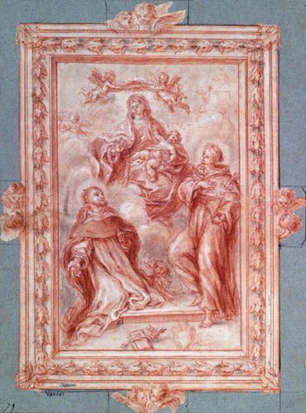 La Vierge apparaissant à Saint Antoine et Saint Dominique_0