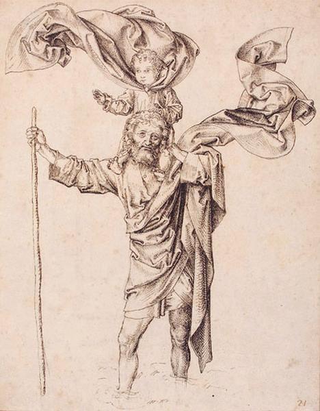 Saint Christophe portant l'enfant Jésus_0