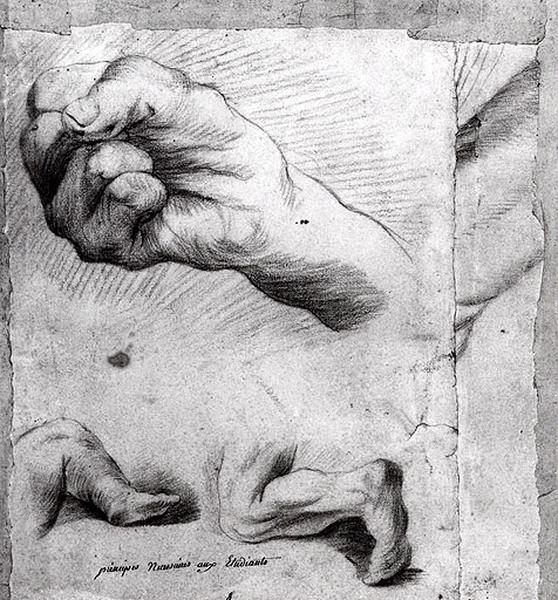 Etude de main et de jambes_0