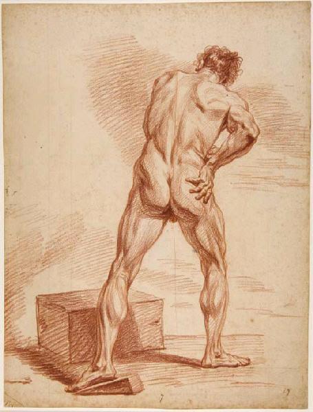 Homme vu de dos, la main droite sur la hanche_0