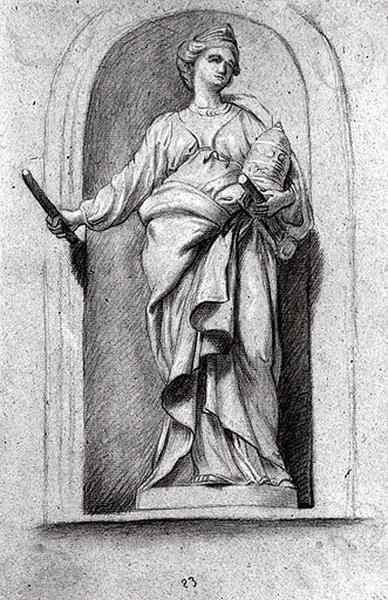 Etude d'une figure allégorique : la papauté_0