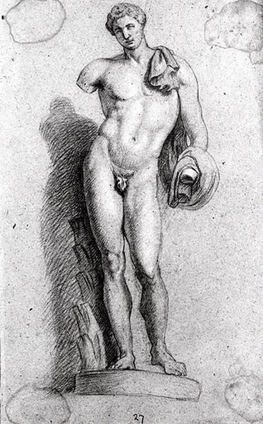 Etude d'une statue d'après l'antique_0