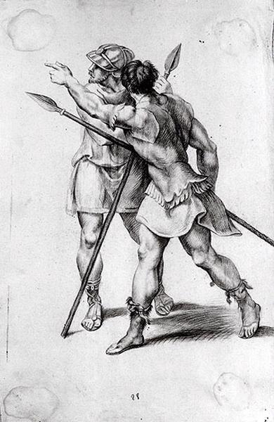 Etude de deux hommes armés_0