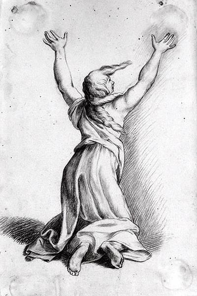 Troyenne à genoux, levant les bras_0
