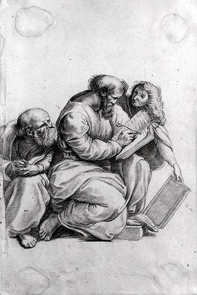 Pythagore entouré de Télauges et d'un vieil homme_0