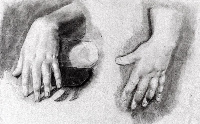 Feuille d'étude de deux mains_0