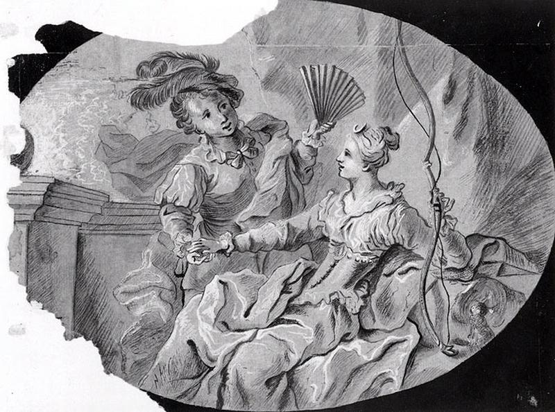 Deux femmes avec un éventail et un arc_0