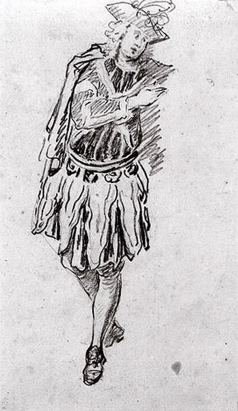 Homme debout en costume de théâtre_0
