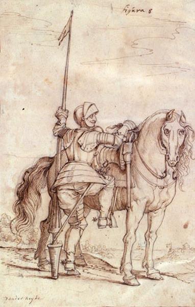 Un guerrier montant à cheval_0