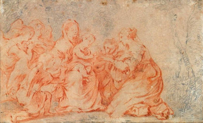 La Vierge, l'Enfant Jésus, sainte Catherine et des anges_0