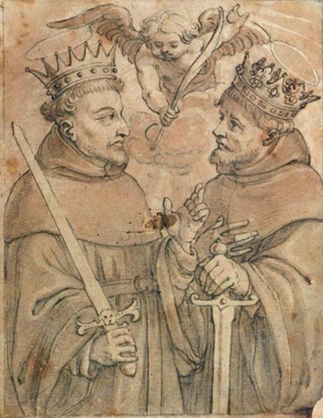 Deux moines couronnés_0