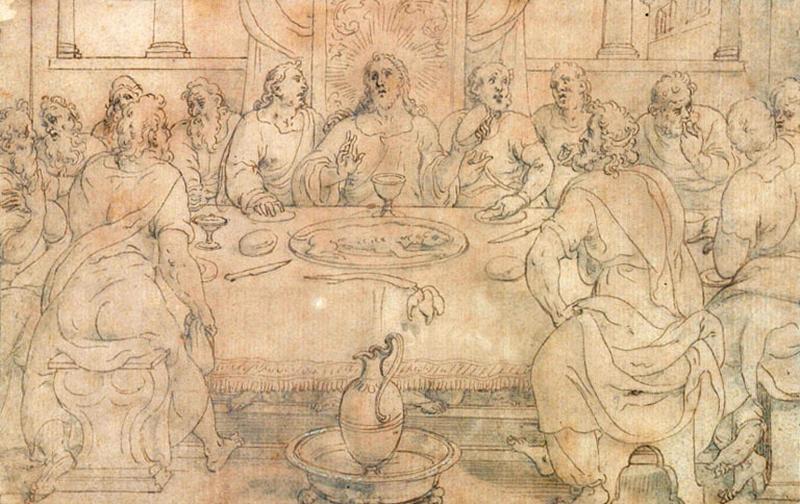 Jésus et ses disciples faisant la Pâques_0
