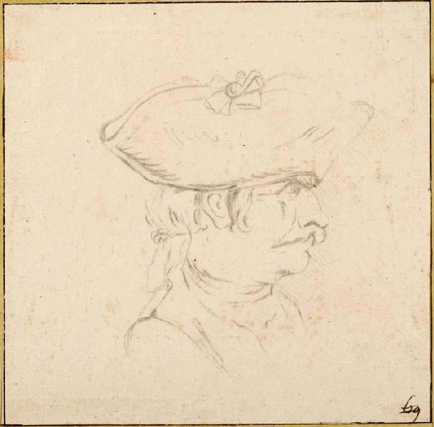 Tête de soldat, de profil à droite_0