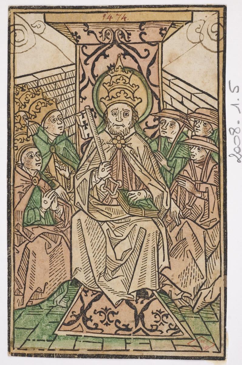 Pape entouré d'archevêques et de cardinaux_0