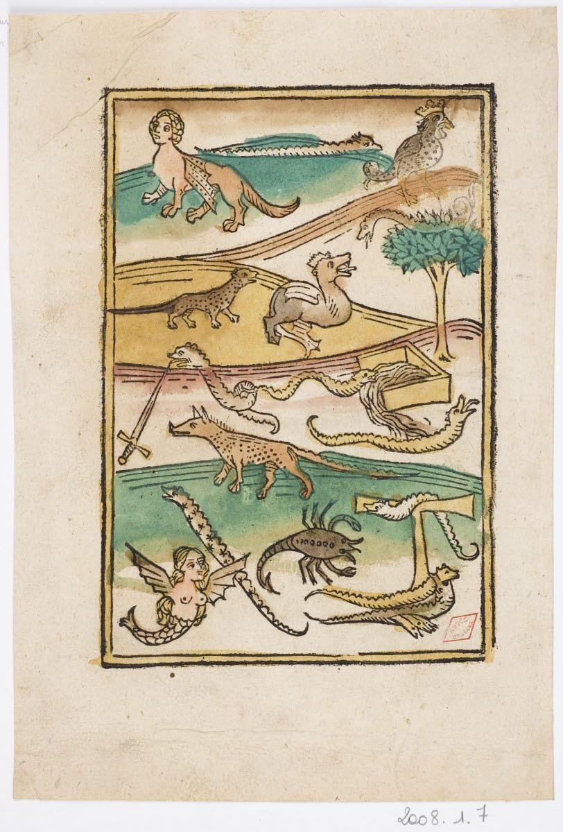 anonyme (inventeur, graveur), BAMLER Johannes (éditeur) : Créatures mythiques