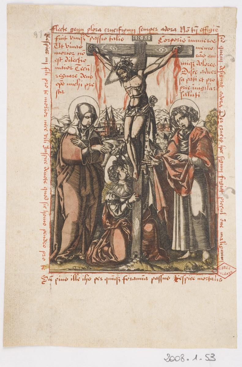 Calvaire avec la Vierge, saint Jean et sainte Marie-Madeleine